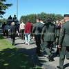 Many accompanied our brother to his final resting place. Military and civilian alike.