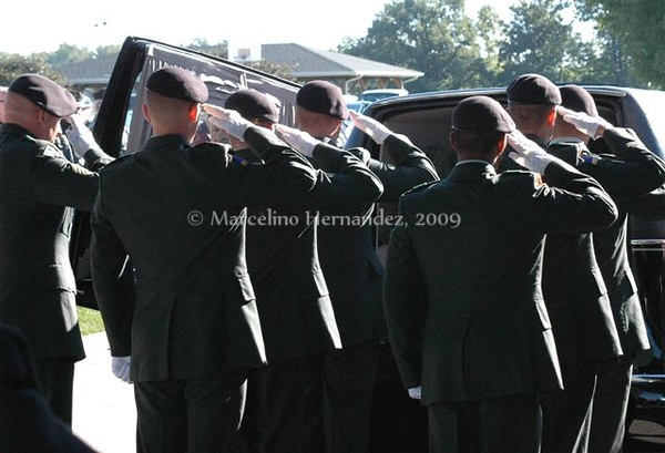 Full military burial.