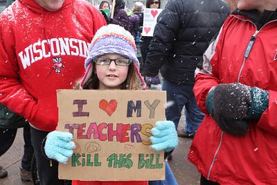 I LOVE MY TEACHERS - Kill this Bill.  She thought her teacher would be able to stay but her brother's teacher would lose her job.