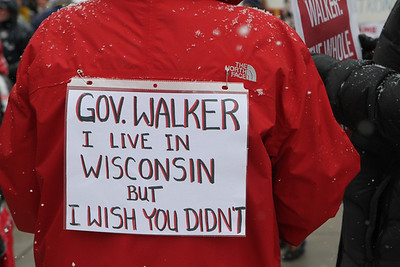 Sign of the times: Gov. Walker  I live in Wisconsin but I wish you didn't.
