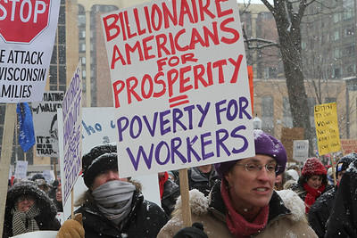 """A growing """"under-current"""" in America - our democracy is for sale to the highest bidders while the rich get richer and the poor increase in numbers with an uncertain future."""