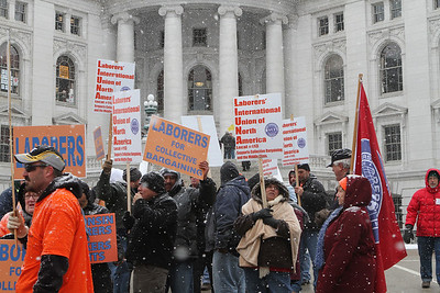 Labor Unions from around the state joined the Public Workers in their support of collective bargaining.