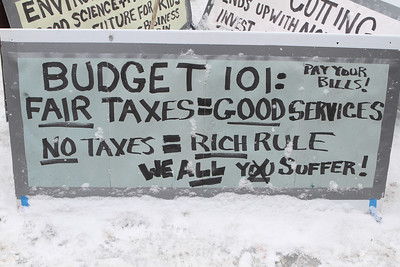 Budget 101:  Pay Your Bills, Fair Taxes = Good Services.  No Taxes = Rich Rule...We ALL Suffer !  Part of a growing sentiment that the poor and middle class take the hits while the rich and super rich get the big breaks.