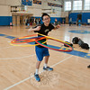 Newtown High School freshman Brandon Xiao demonstrates his hula hoop skills at the Newtown High School Health Fair.   (Dietter photo)