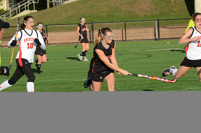 Catherine Barber feeds the ball