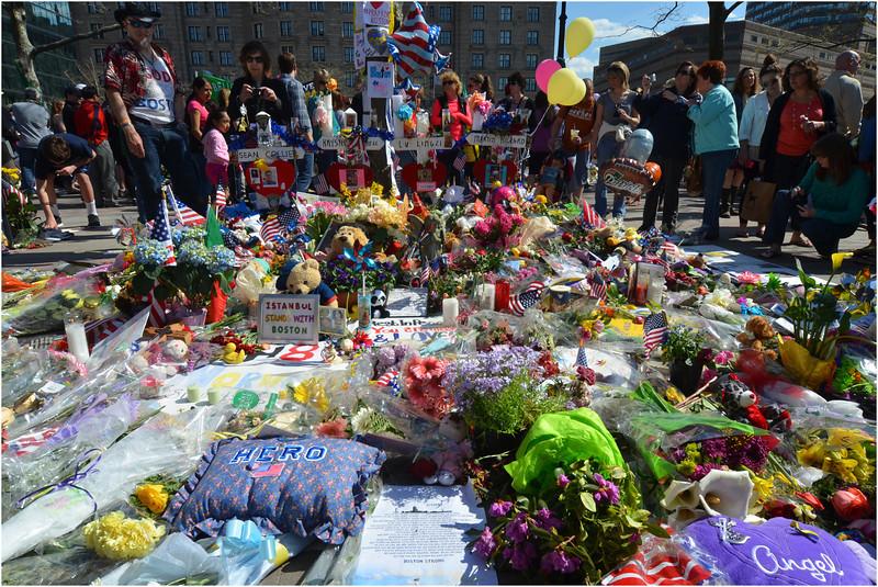 Bombing memorial at Copley Square.