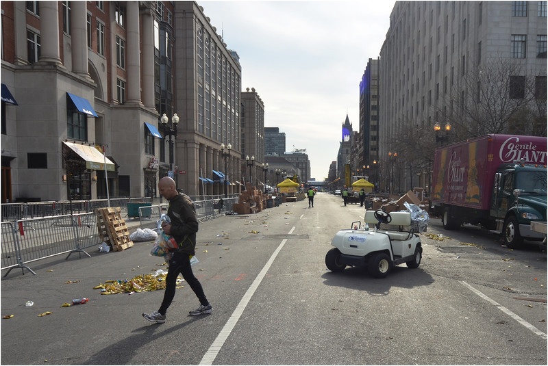 Boylston Street, about an hour and a half after the bombing on April 15.
