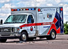American Medical Response Medic-61 on the scene of a traffic accident at Galley Road and Space Center Drive.
