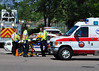 AMR Medics on the scene of a major traffic accident on Murray Boulevard in Colorado Springs, Colorado, USA.