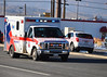 American Medical Response, Medic-65, responding to a medical emergency, code 3, Eastbound Fillmore Street, in Colorado Springs, Colorado, USA.