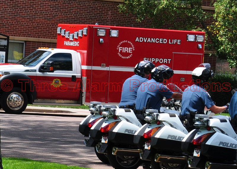 Colorado Springs Fire Department's Squad 108 in the Presidential Motorcade on August 9, 2012.