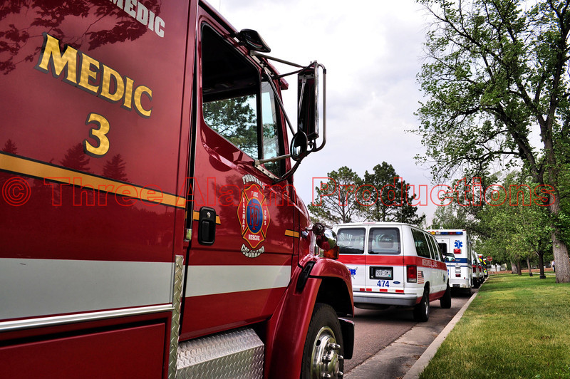 "The City of Fountain Medic Unit 3, at ""Medical Staging"" on the Waldo Canyon Fire Incident."