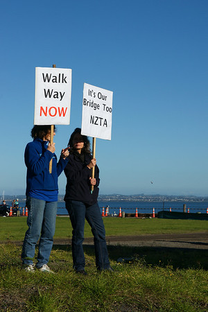 Auckland Harbour Bridge Protest