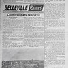 Belleville Times 1970 February 5 page 1. Simpsons in proposed plaza, Carnival gets reprieve