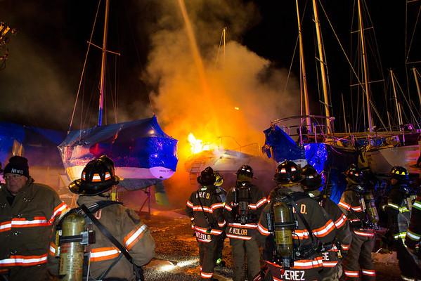 Boat Fire - Whites Marina - New Hamburg Fire District