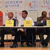 Forum August 6 at Quincy Elementary School. Form left to right: Bill Walczak, Marty Walsh, Charles Yancey.