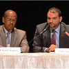 August 1 forum at RCC. Charles Yancey and Felix Arroyo.