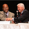 August 1 forum at RCC. Charles Clemons and Dan Conley.