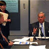 Meeting in City Hall in 2008 about response to the city's increasing number of mortgage foreclosures.