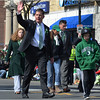 Marching in the St. Patrick's Day/Evacuation Day Parade in South Boston. March 2013.