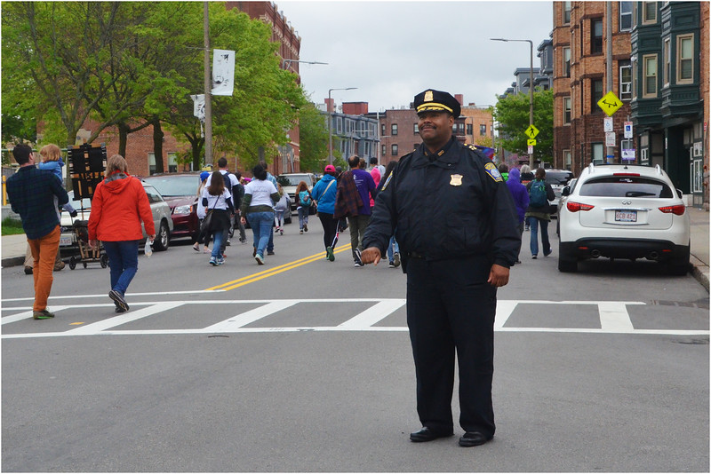 At Mother's Day Walk for Peace on Dudley Street. May 13, 2018.