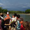 La delegación llegó viajando por los ríos hasta un Resguardo Humanitario indígena embera en un lugar llamado Alto Guayabal. <br /> Foto: Pauline Liss/PBI Colombia