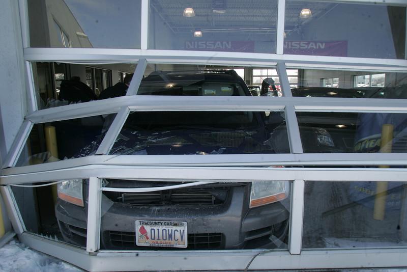 Car Through Dealership Door Elyriact