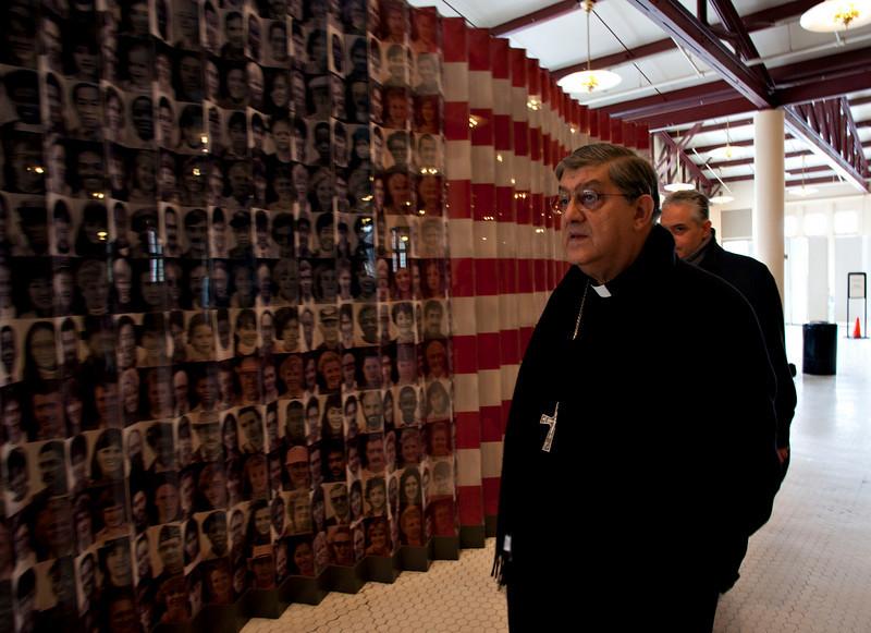 Cardinal Crescenzio Sepe visits the the Immigration Museum at Ellis Island.<br /> Ellis Island, NY, January 20th, 2011.