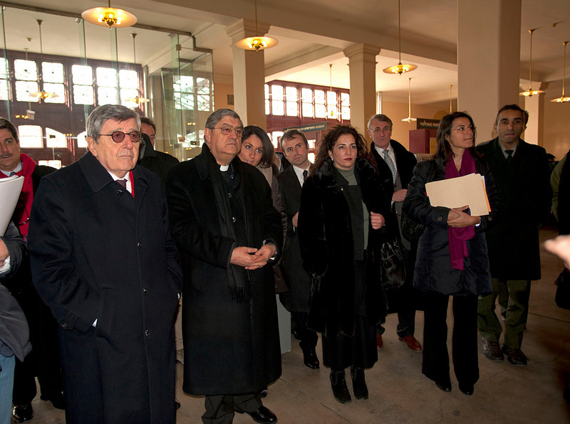 (L-R): Hon. Vincenzo Scotti, Cardinale Sepe and Senator Diane Savino arrive at the Immigration Museum at Ellis Island.<br /> New York, January 20th, 2011