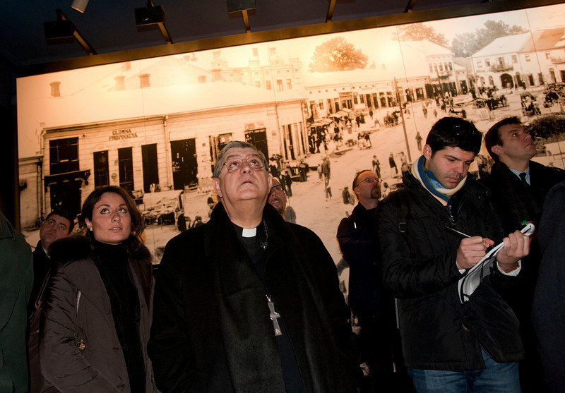 Cardinal Sepe visits the the Immigration Museum at Ellis Island.<br /> Ellis Island, NY, January 20th, 2011.