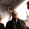 (L-R): Hon. Vincenzo Scotti, Cardinal Sepe and Consul General Francesco Maria Talo' visit the the Immigration Museum at Ellis Island.<br /> Ellis Island, NY, January 20th, 2011.