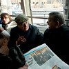 (L-R): Hon. Vincenzo Scotti and Cardinal Crescenzio Sepe on the ferry to Ellis Island.<br /> New York, January 20th, 2011