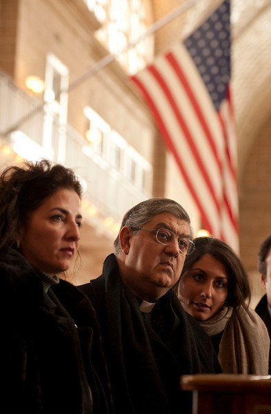 (L-R): Senator Diane Savino and Cardinal Sepe visit the Immigration Museum at Ellis Island.<br /> New York, January 20th, 2011