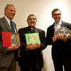 "(L-R): Casa Italiana's Director Stefano Albertini, Cardinal Sepe and John Turturro pose after receiving Awards for the accomplishments in ""Telling Naples"" to the world.  New York University's Casa Italiana Zerilli-Marimò, January 20th, 2011."
