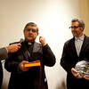 "Cardinal Sepe presents the ""DireNapoli"" Award to John Turturro for his accomplishments in ""Telling Naples"" to the world."