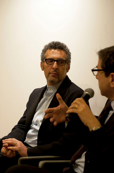 "(L-R): John Turturro and Prof. Antonio Monda talk with Cardinal Sepe in the discussion, entitled ""Naples: Facts and Fiction"" at the New York University's Casa Italiana Zerilli-Marimò.<br /> New York, January 20th, 2011"