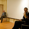 "(L-R): Cardinal Sepe, Casa Italiana's Director Stefano Albertini, John Turturro and Prof. Antonio Monda during the discussion, entitled ""Naples: Facts and Fiction"", at the New York University's Casa Italiana Zerilli-Marimò.<br /> New York, January 20th, 2011"