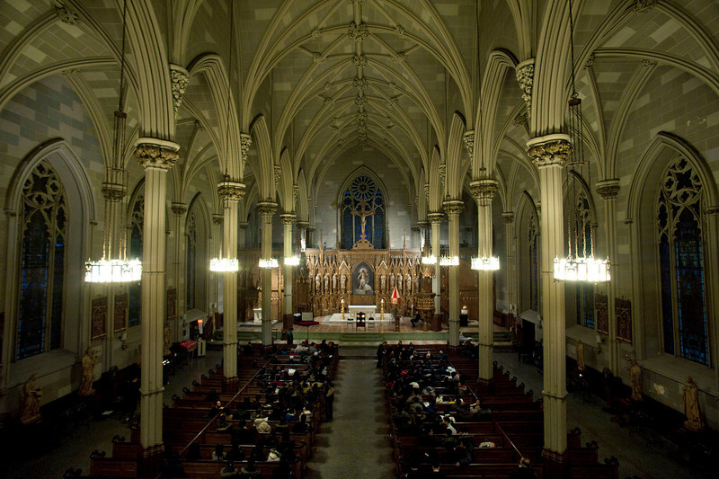 Saint Patrick's Old Cathedral, located on Mulberry Street, in the historic neighborhood of Little Italy.