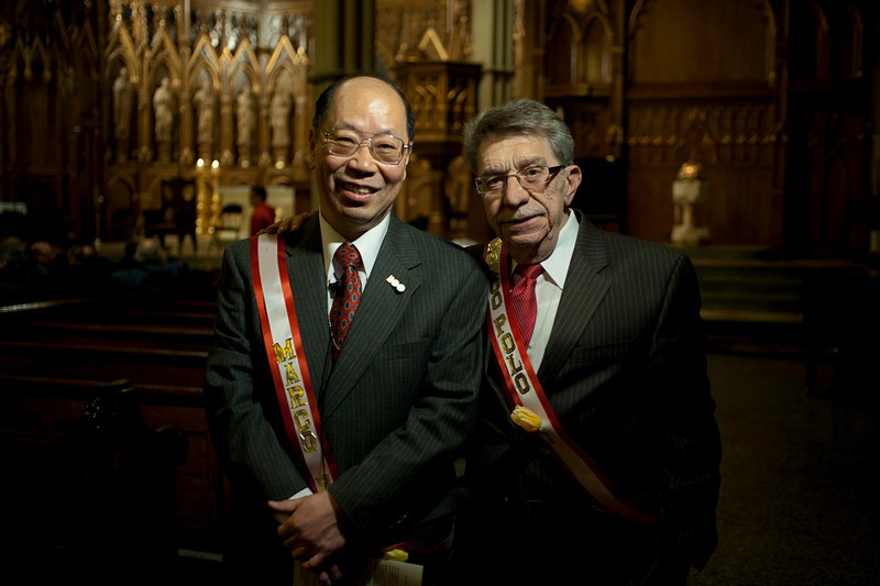 """(R): Victor Papa, President of the Two Bridges Neighborhood Council.<br />  The local Association Two Bridges will offer a multimedia presentation of their annual celebration called """"Marco Polo"""", dedicated to strengthening the inter-cultural dialogue between the two major ethnicities-the Italian and the Chinese."""