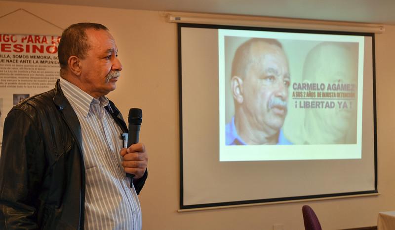 Este hombre de unos 60 años fue encarcelado en noviembre de 2008 por presuntos vínculos con los grupos paramilitares que él mismo denunció.<br /> © Julián Montoni/PBI