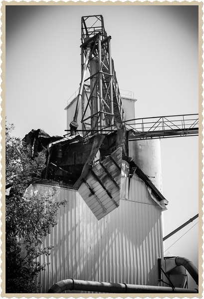 Fire damage Citizens Grain Elevator, Charlotte Michigan, August 23, 2012.