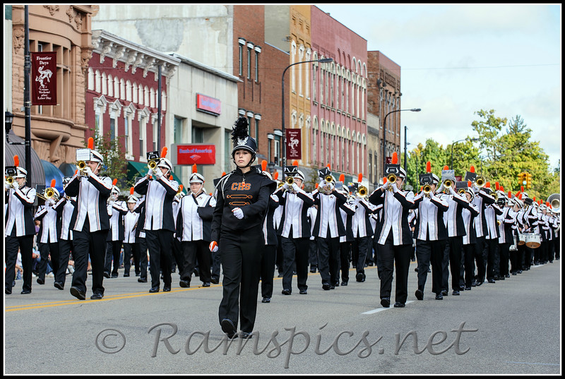 CHS Marching Band, participating in the Frontiers Day Parade.