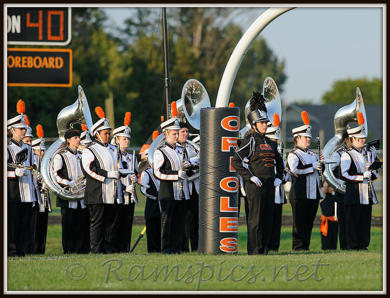 Charlotte Orioles Marching Band, (version 2012) takes to the home field.