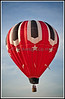 """Hot air balloon takes to the skies over Charlotte during the 2011 """"Celebrate Charlotte"""" festival, June 17, 2011."""