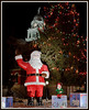 Local favorite during the holiday season, Santa and his (two?) elves at the Courthouse Square, Charlotte Michigan.