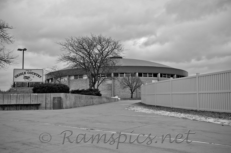"The dome at Charlotte High School 2011. For many years ""the dome"" was THE state of the art basketball, volleyball, and wrestling venue in mid Michigan.<br /> In the 1970's, Ervin Magic Johnson and Jay Vincent, future MSU stars, played regional games here... I suspect a few U of M guy's did as well... but I don't remember ;-)"