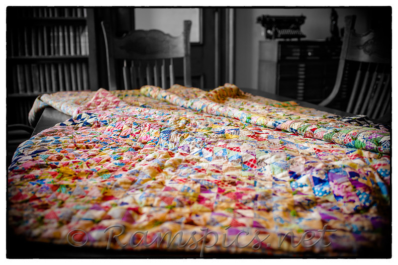 Quilt in the law library, Spring 2012 quilt show.