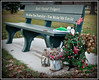 Bench at the Bennett Park Memorial Gardens, Winter 2011