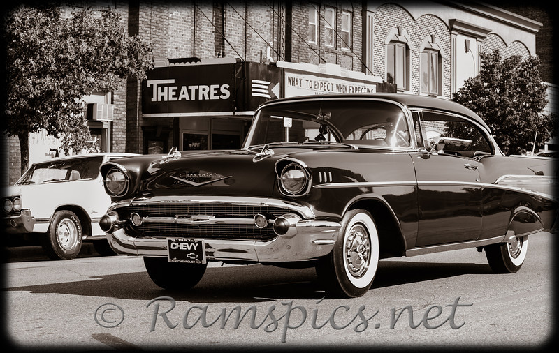 Maybe a photo taken in the late 1950's.... cruising along main street... maybe a movie in the evening?<br /> Celebrate Charlotte Car Show (2012) downtown Charlotte Michigan.