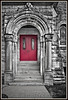 Red door, Charlotte United Methodist Church, Charlotte MI 2011.<br /> The Methodist Church is one of 48 designated historic sites in Eaton County...New exhibit of all the sites, with historical descriptions and photographs coming this fall!